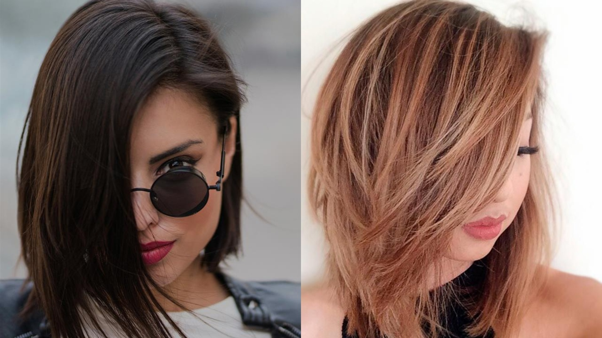 Get amazed by this medium hairstyle that will fit round faces
